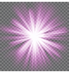 Glowing light burst vector image