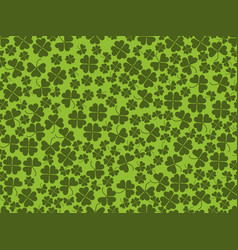 happy st patricks clover seamless pattern vector image