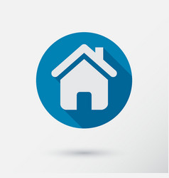 home icon in flat style vector image vector image