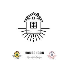 House icon village apartments symbol homestead vector