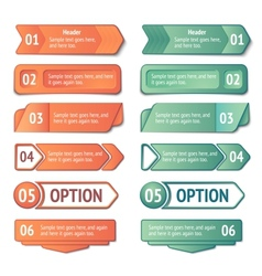 Infographics options and titles banners set vector