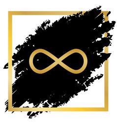 Limitless symbol golden icon vector