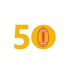 Pro football championship 50 ball vector