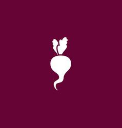 Radish icon gardening vector