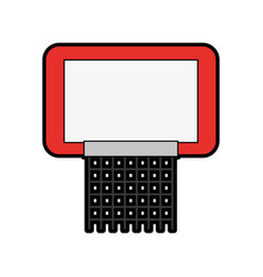 Red basketball hoop vector