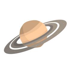 saturn planet cartoon vector image