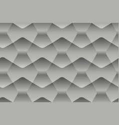 seamless abstract gray pattern with geometric 3d vector image vector image