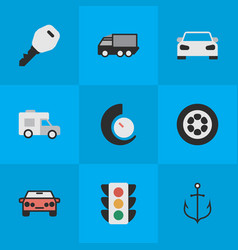 set of simple traffic icons vector image vector image