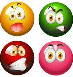 Snooker balls with faces vector