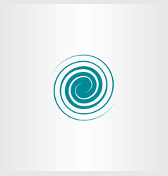 spiral swirl icon wave design vector image vector image