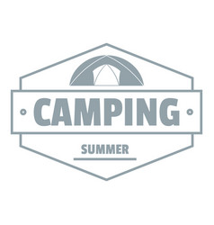 summer camping logo vintage style vector image