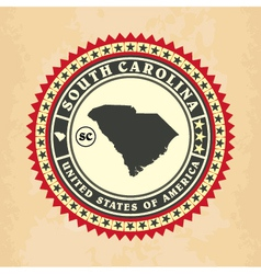 Vintage label-sticker cards of South Carolina vector image vector image