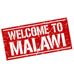Welcome to malawi stamp vector
