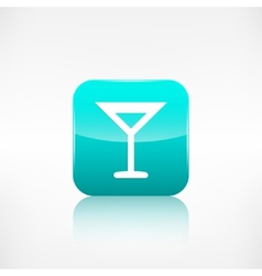Wine glass web icon application button vector