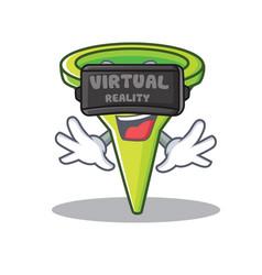 with virtual reality funnel character cartoon vector image