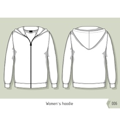 Women hoodie Template for design easily editable vector image