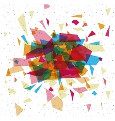 Isolated polygonal figure design vector