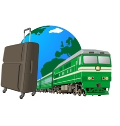 Journey to the railway transport vector image