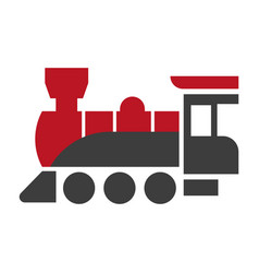 Old style steam engine locomotive icon isolated on vector