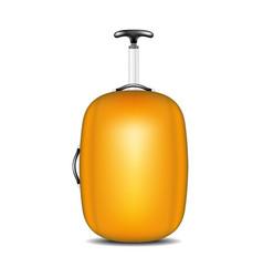 travel suitcase in orange design vector image
