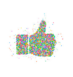 Abstract thumb up icon vector