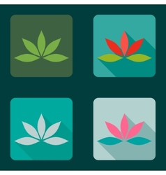 Lotus icons vector image