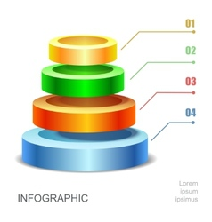 Pyramid chart for infographics presentation vector