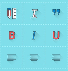 Text formatting icons icon set in flat design vector