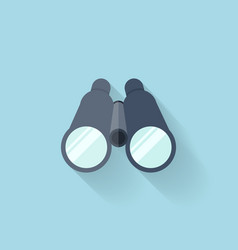 Flat web icon binocular vector