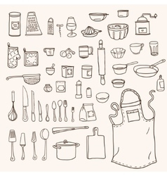 Kitchen utensils collection vector