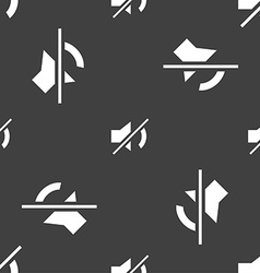 Mute speaker sign icon sound symbol seamless vector