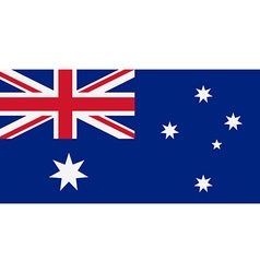 Rectangular australia flag vector