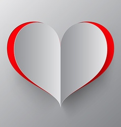 Heart paper cut vector