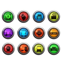 Computer equipment icons set vector