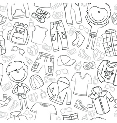 Modern casual boys clothes vector