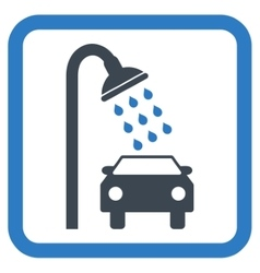 Car shower flat icon vector