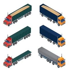 Heavy transportation isometric cargo truck vector