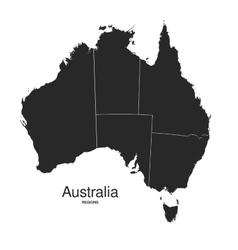 Australia regions silhouette vector image vector image