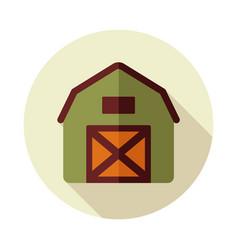 Barn house flat icon vector