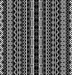 Black and white background with ethnic motifs vector image