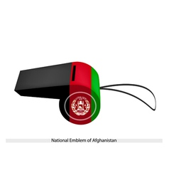 Black Red and Green Stripe on Afghanistan Whistle vector image