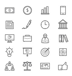Business and Finance Icons Line vector image vector image