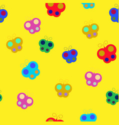 Butterfly chaotic seamless pattern 205 vector