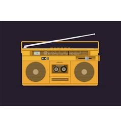 Cassetteplayerorange vector