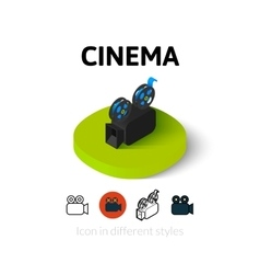 Cinema icon in different style vector image vector image