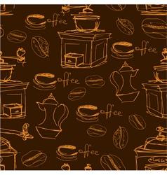 Coffee handdraw seaml 2 380 vector