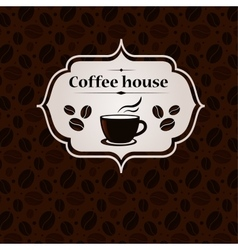 Coffee house vintage banner design template vector