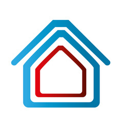 Colorful abstract silhouette house icon vector