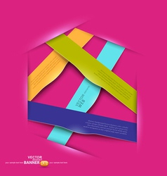 Colorful banners design elements vector