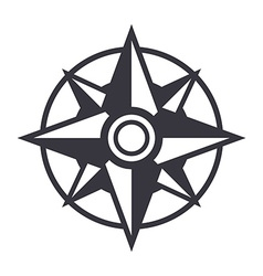 Compass Icon Isolated on white background vector image vector image